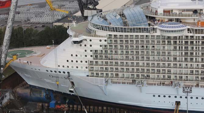 Oasis of the Seas at Keppel Verolme Shipyard