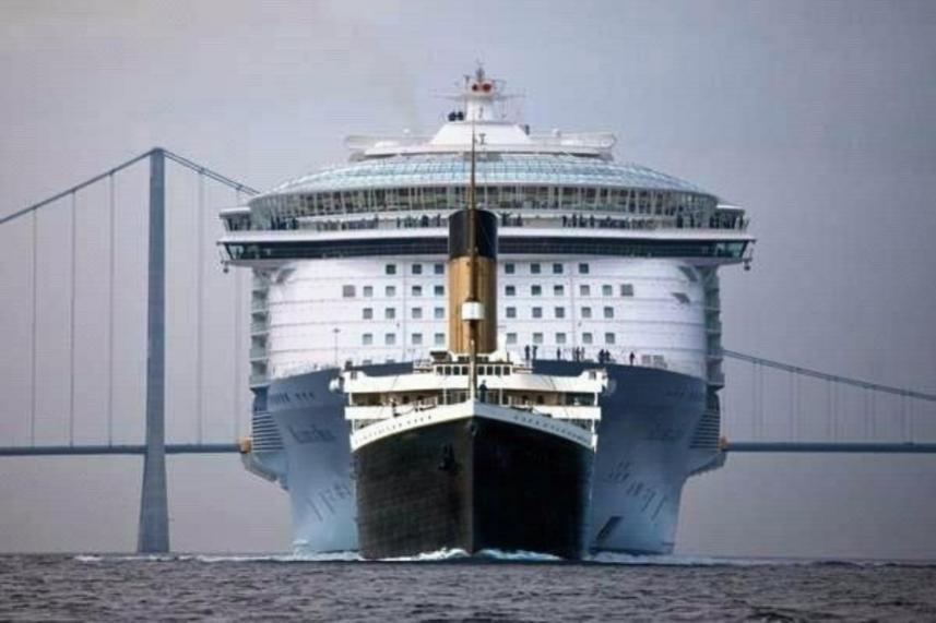 Titanic vs Allure of the Seas Cruise Ship
