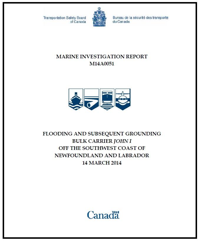 Canada TSB report