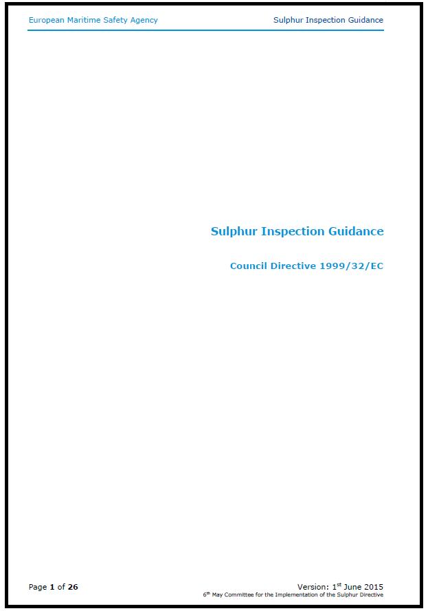 EMSA sulphur guidance