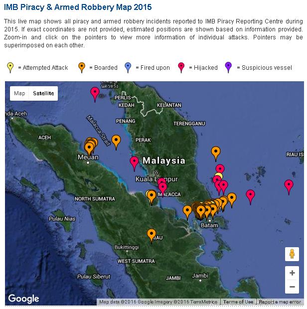 Piracy map 2015