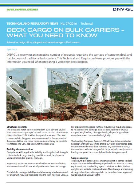 DNVGL Bulk cargo on decks