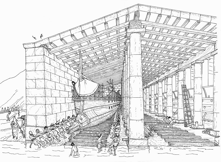 Greek ancient naval base d