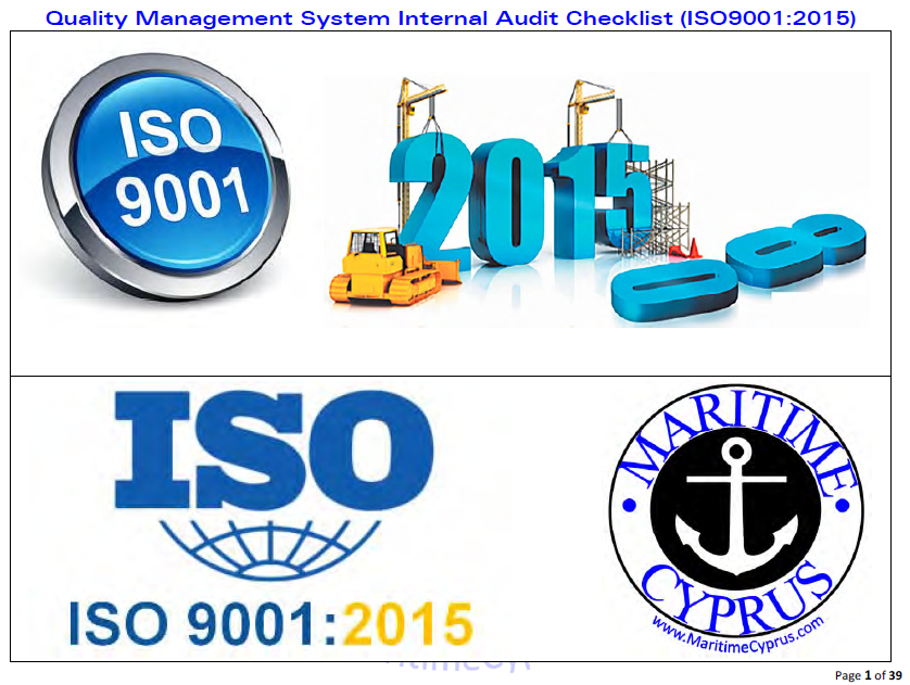 ISO9001-2015 int audit checklist