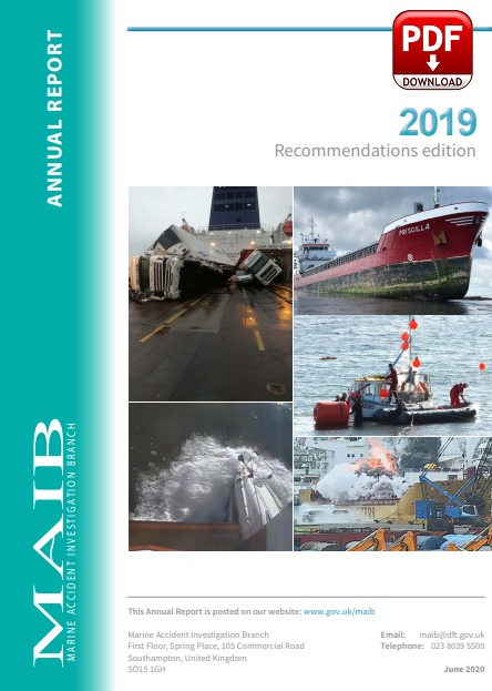 UK Marine Accident Investigation Branch (MAIB) Annual Report 2019